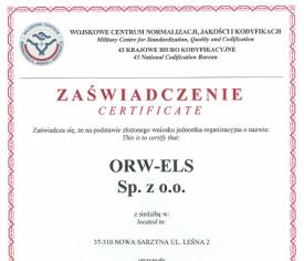 Natowski Kod Podmiotu Gospodarki Narodowej dla ORW-ELS